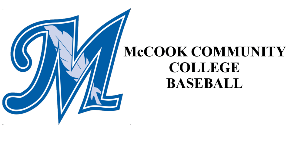 McCook Community College Logo on the left with the words McCook community college baseball on the right.
